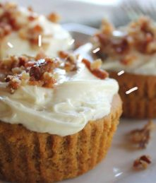 Bacon Pumpkin Cupcakes with creme cheese icing recipe