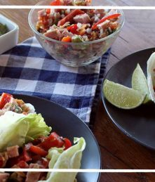 lettuce tacos with allergy free meat products Recipe from wellshire farms