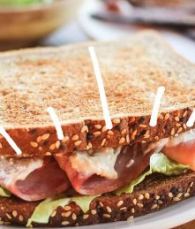 Turkey and Ham Caesar Sandwich Recipe From Wellshire Farms