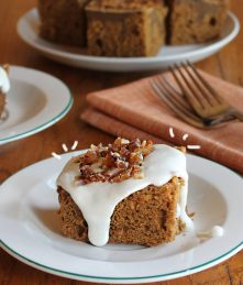 Bacon Gingerbread Cake with icing recipe