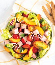 Peach, Tomato & Virginia Ham Salad
